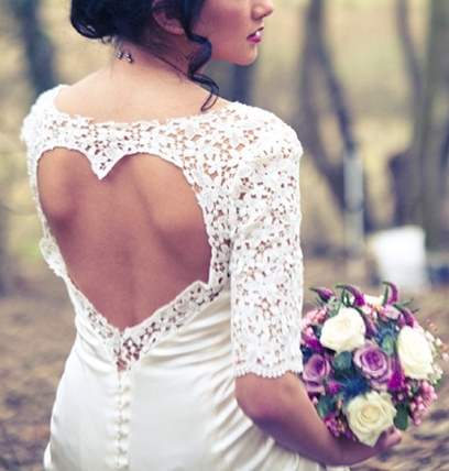 heart cut out wedding dress by charlotte bridal / photo by tatum