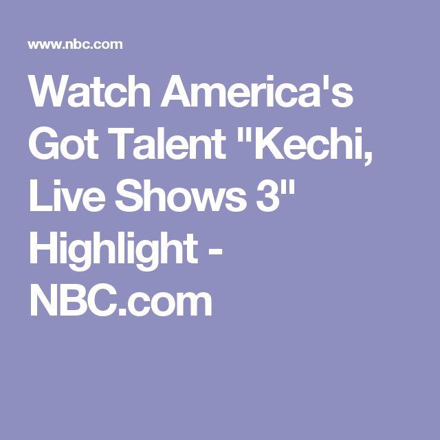 "Watch America's Got Talent ""Kechi, Live Shows 3"" Highlight - NBC.com"