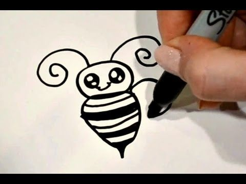 how to draw a zebra cute bee art
