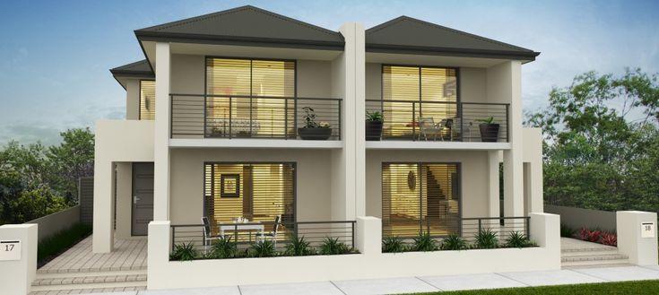 modern duplex - Perry elevation