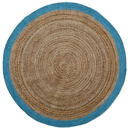 Natural Round Stripe Rug Mint