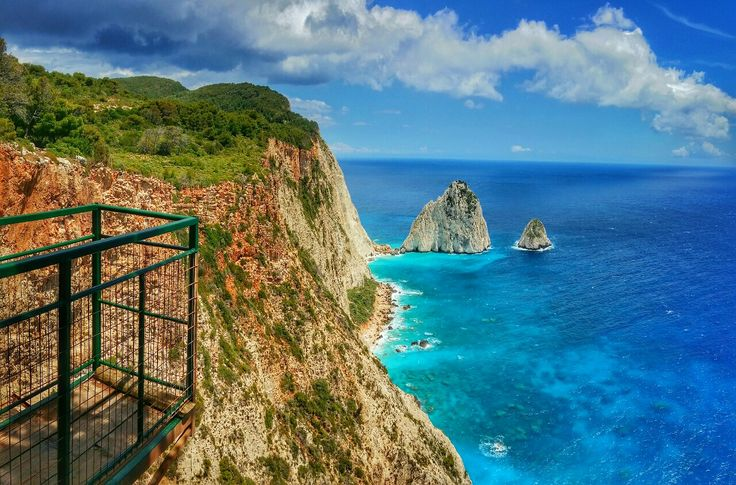 View From The Clifftop At The Keri Lighthouse Taverna on Zakynthos island Greece Photography by Alistair Ford