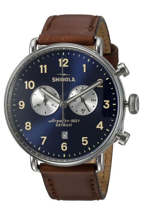 Shinola Detroit The Canfield 43mm 20001940 (Midnight Blue/Dark Cognac) Watches - Shinola Detroit, The Canfield 43mm 20001940, S0120001940, Jewelry Watches General, Watches, Watches, Jewelry, Gift, - Street Fashion And Style Ideas