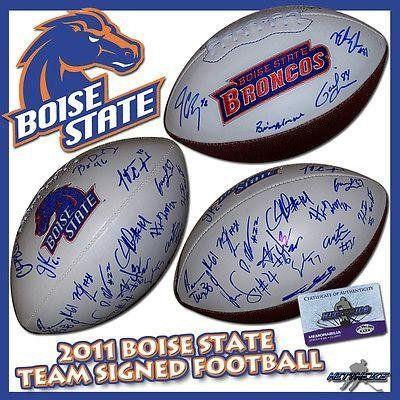 BOISE STATE BRONCOS Team Signed 2011 NCAA FOOTBALL w/COA - Autographed College Footballs  #2011 #Autographed #Boise #Broncos #College #Football #Footballs #NCAA #Signed #State #Team #w/COA boisestategear.com