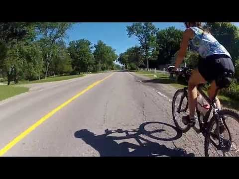 ▶ STABILIZED - Trainer Video 12 - Indoor Cycling Training ( Unpaved rural roads ) - YouTube