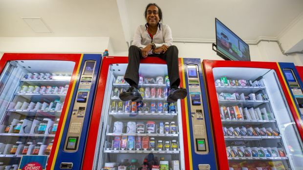 Australias vending machine only store - st kilda - In a battered, dirty shopfront in St Kilda, Hari Shotham thinks he's found the future of Australian retail. An unstaffed shop full of vending machines.