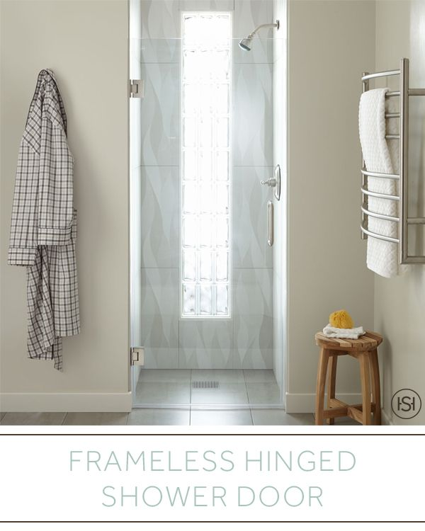 Beautiful In Its Simplicity The 30 Farland Hinged Shower Door Features Heavy Duty Hinges To Support The Frameless Shower Doors Shower Doors Frameless Shower