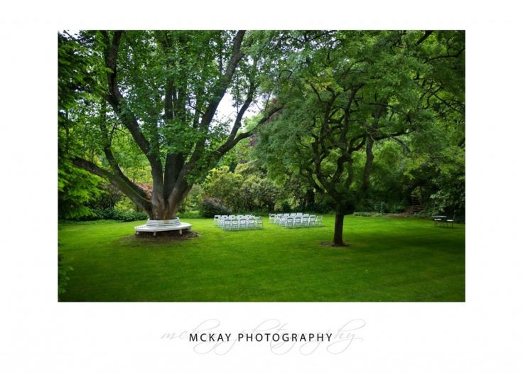 The outdoor wedding ceremony area for Milton Park - set on the lawn under large trees it's a beautiful location  #miltonpark #bowral #wedding