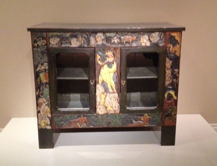 Paul Gauguin And Emile Bernard, Earthly Paradise (carved And Painted Wood  Cabinet),