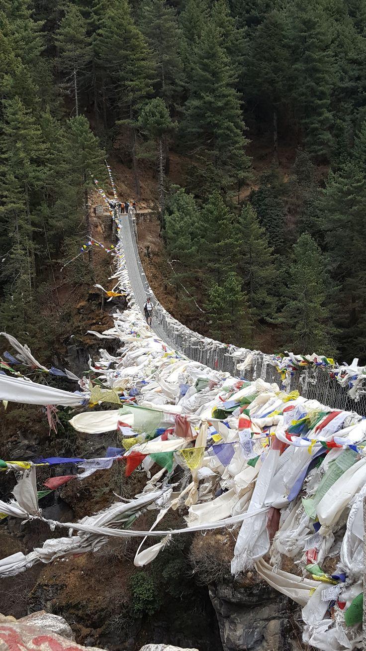 Beth Dunphy's shot of the Hilary Suspension Bridge on her Everest Base Camp trek in March. #everest#everestbasecamp#ebc#himalayas#himalaya#hiking#adventuretravel#activeadventures