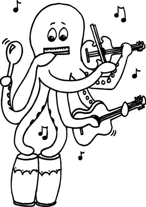 music coloring pages preschool - photo#6
