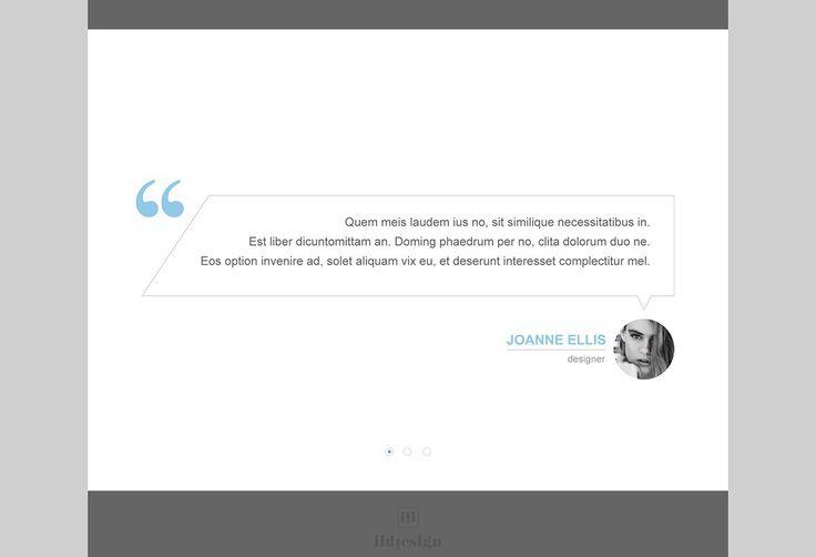Testimonials UI Design