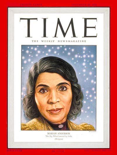 TIME Magazine Cover: Marian Anderson - Dec. 30, 1946 - Opera ...
