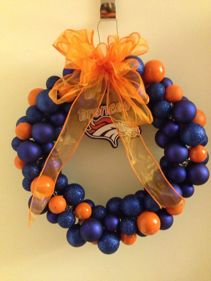 Bronco wreath I made for my brother and sister!