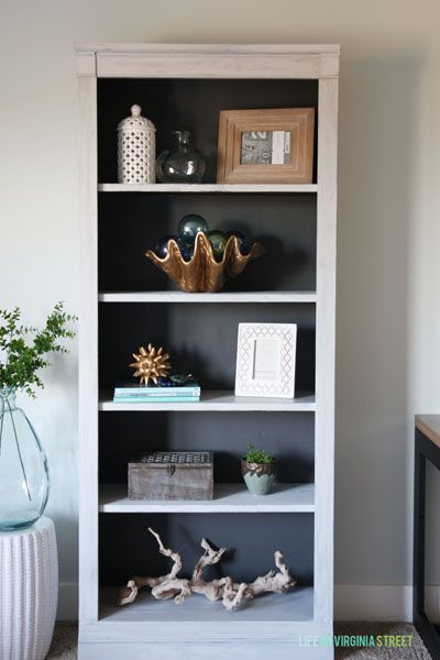 Step-by-step tutorial for taking a curbside bookcase find and transforming it into a beautiful new piece with chalk paint!