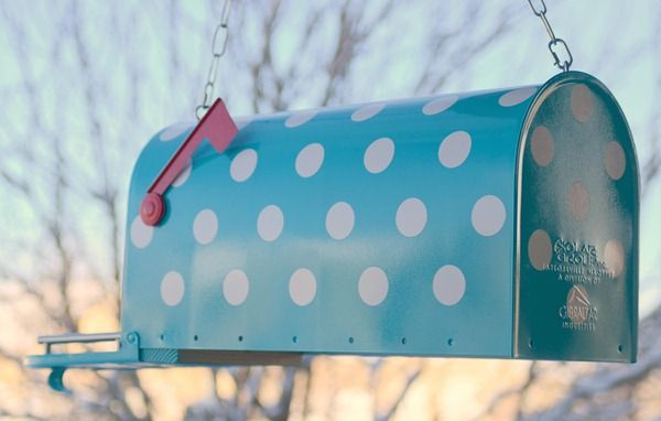 Umm, polka dot mailbox? It's actually meant to be a birdhouse, but I like the idea of a mailbox.
