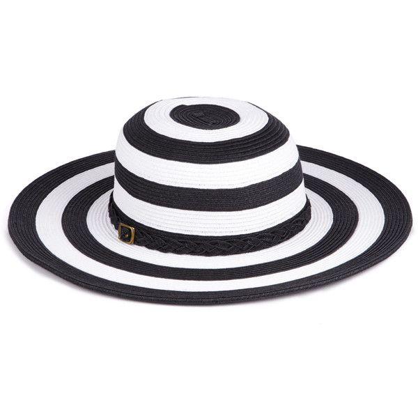 Sole Society Stripe Floppy Sunhat ($35) found on Polyvore
