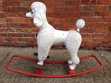 Triang Poodle Sit On Rocker1950'S Rare