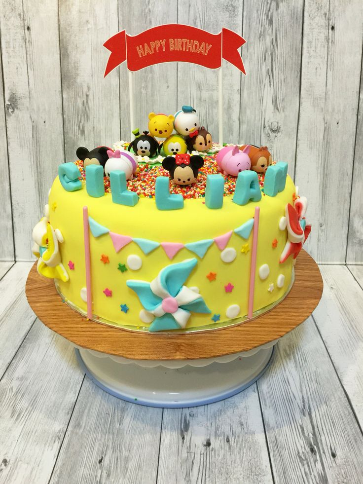 Best Disney Tsum Tsum Cakes Images On Pinterest Disney Cakes - Disney birthday cake ideas
