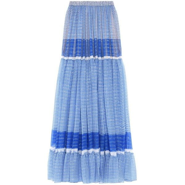 Stella McCartney Elsa Maxi Skirt in Petrol Blue ($1,545) ❤ liked on Polyvore featuring skirts, blue, blue pleated maxi skirt, long blue skirt, long pleated maxi skirt, metallic pleated maxi skirt and long blue maxi skirt