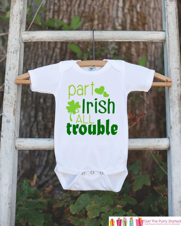This adorable onepiece is perfect for your children this St. Patrick's Day! It is just waiting to be worn by the little one in your life! Our graphics are professionally printed directly onto the fabr