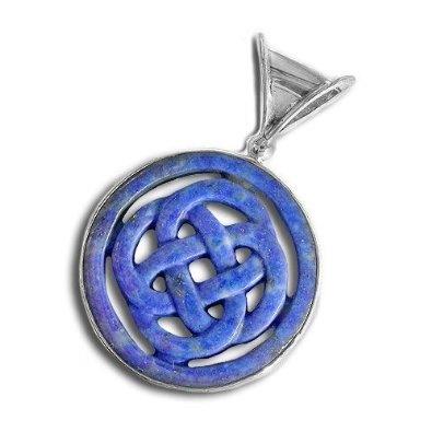 Sterling Silver Lapis Celtic Design Pendant Necklace By Sajen: Jewelry: Amazon.com