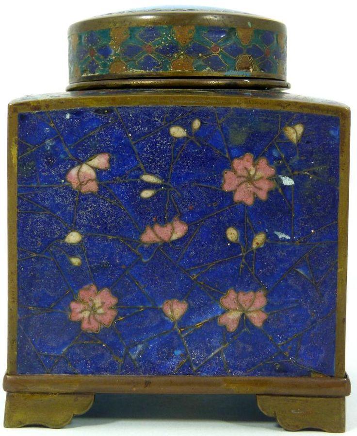 Old Japanese cloisonné enamel ink well