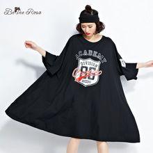 BelineRosa 2017 Плюс Размер Женская Одежда Европейская Мода Batwing Рукавом Туника Футболка Платья Женщин Fit 5XL 6XL TYW0262(China (Mainland))