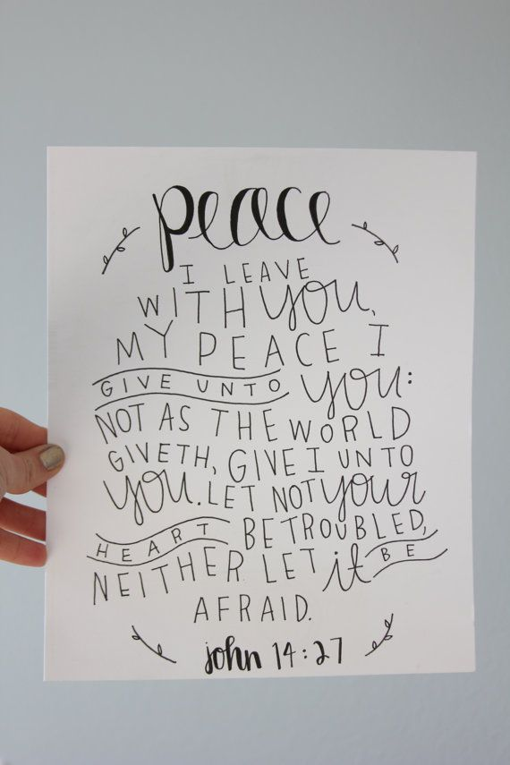 John 14:27 Scripture Print by thecuriouslifeshoppe on Etsy