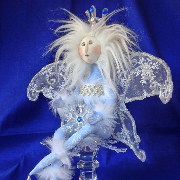 OOAK Snow Fairy doll available.  This is the original doll for developing the pattern that is now offered.