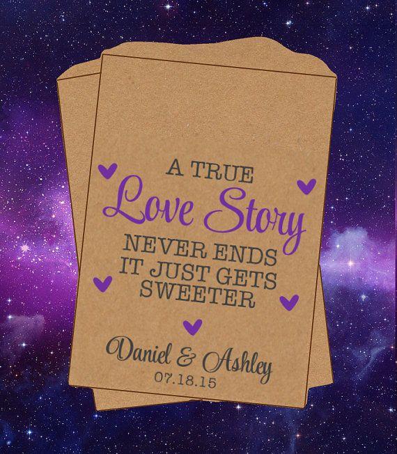 A True Love Story Kraft Brown Custom Wedding by SugarConfetti