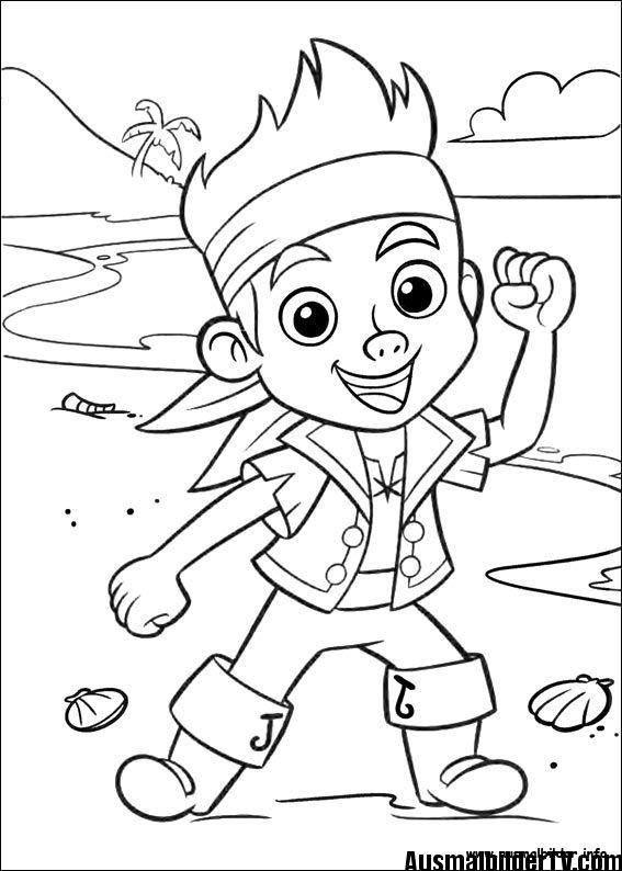 Ausmalbilder Jake Coloring Pages Piraten Kinder Malbuch