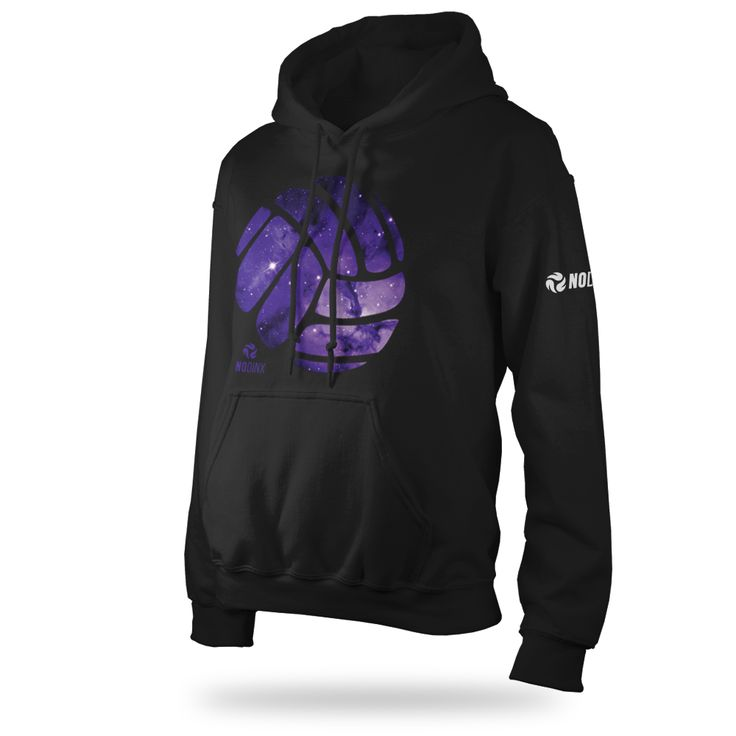 Galaxy Ball Hooded Sweatshirt - No Dinx Volleyball