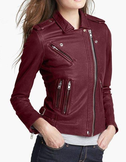 peregrine. chaqueta de cuero mujer old vine 1
