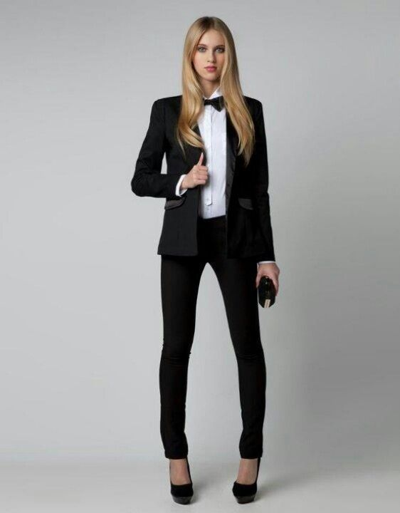 Creative Women39s Plain Front Tuxedo Pants Black