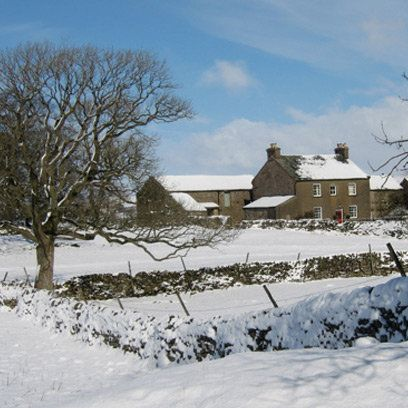 A Corner of Eden in the snow. Find this and more romantic hotels in the Lake District at Redonline.co.uk
