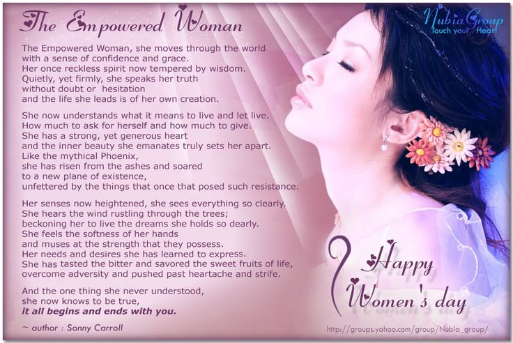 Women's Day Quotes Poems | The Empowered Woman - Happy Women's Day march 8