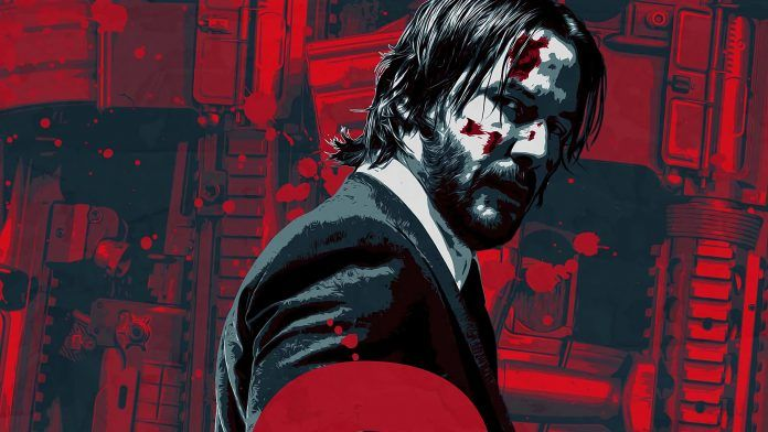 Blood John Wick Keanu Reeves Red Background Hd Wallpapers