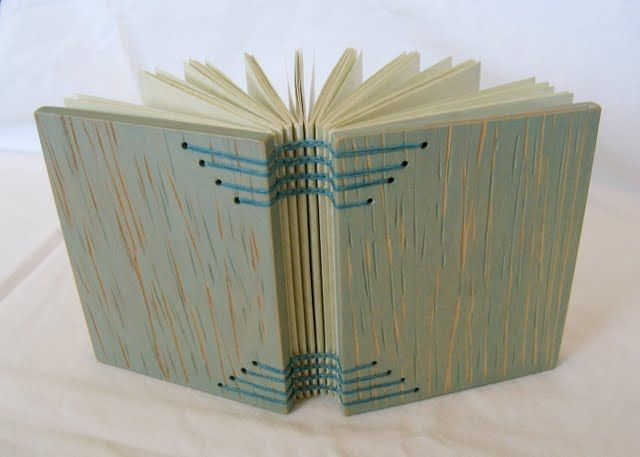 Coptic binding on wood covers book making pinterest for Beautiful binding