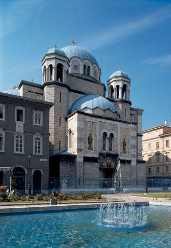 Saint Spyridon Church is a Serbian Orthodox church in Trieste, Italy.