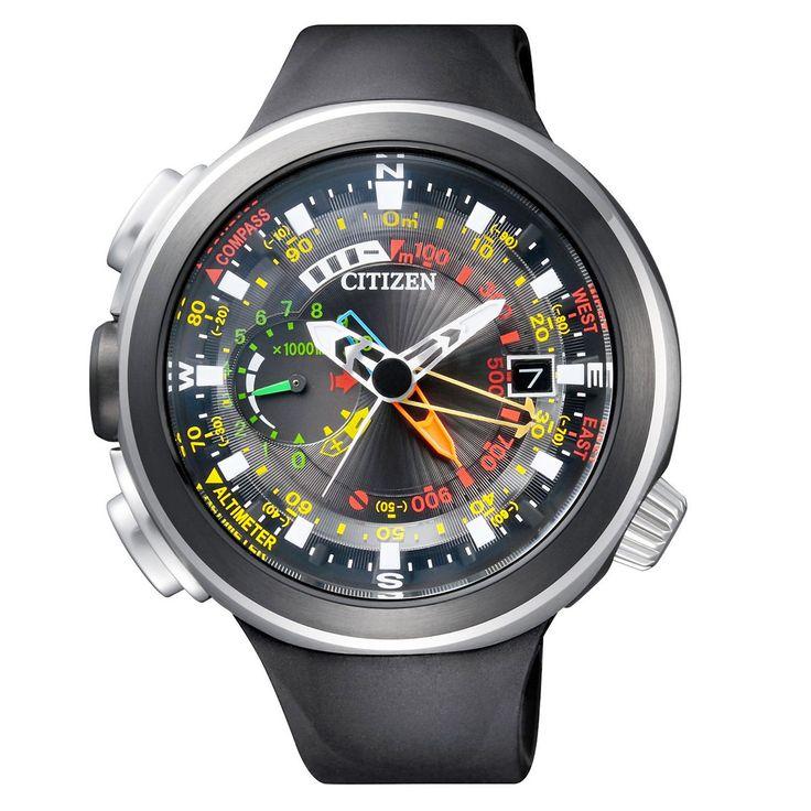 Montre Citizen Promaster Land Altichron Altimetre Aqualand Cirrus BN4035 08E ECO | eBay