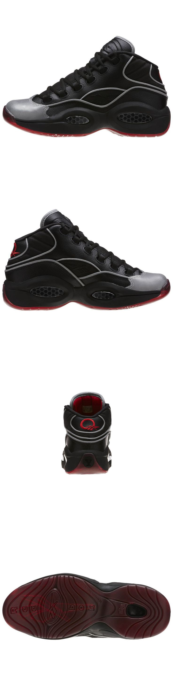 Youth 158973: Kids Question Mid A5 Jadakiss Bd4332 Boys Reebok Gs Black Silver Red -> BUY IT NOW ONLY: $49 on eBay!