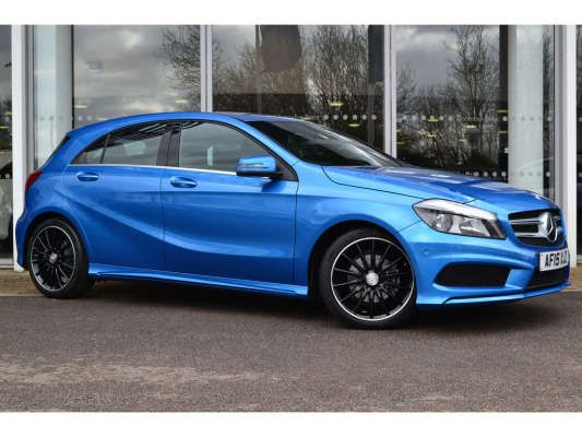 Used 2015 (15 reg) South Seas Blue Mercedes-Benz A Class AMG Sport for sale on RAC Cars
