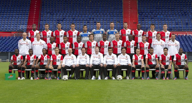 Feyenoord team 2012  Are these he guys who are going to make me happy in 2013 by winning the Championship…?