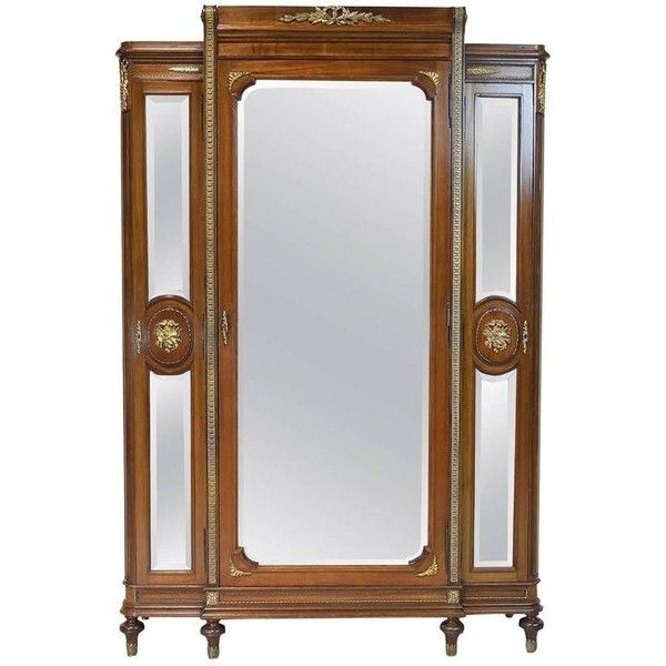 Preowned Louis Xvi Style Armoire With Mirrored Doors And Ormolu, Circa... (113.190 ARS) ❤ liked on Polyvore featuring home, furniture, storage & shelves, armoires, brown, second hand wardrobes, music sheet, storage wardrobe, louis xvi armoire and second hand furniture