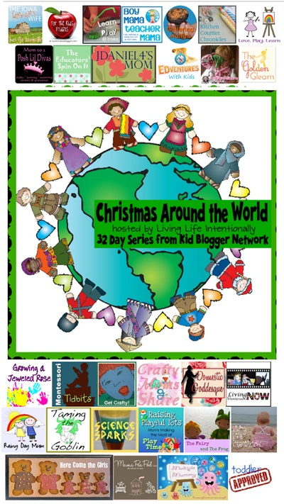 Join us Nov 23-Dec 24, 2012 for 32 days of Christmas around the World from 36 incredibly creative Kid Bloggers! This is going to be the blogging event of the season!