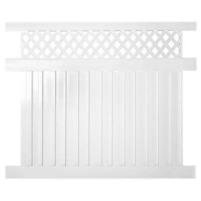 Clearwater 6 ft. x 6 ft. White Vinyl Privacy Fence Panel Kit