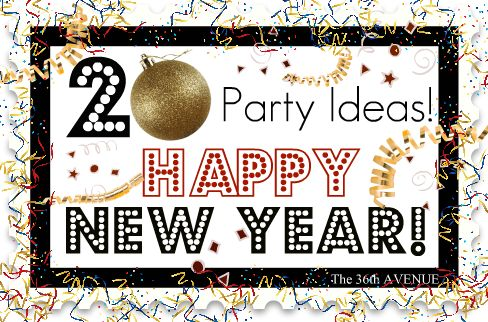 Here you have it... 20 New Year's Eve Party Ideas! I can't wait!