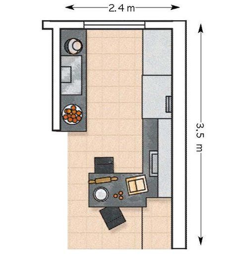 Las 25 mejores ideas sobre planos de casas chicas en for Planos de cocinas 4x4