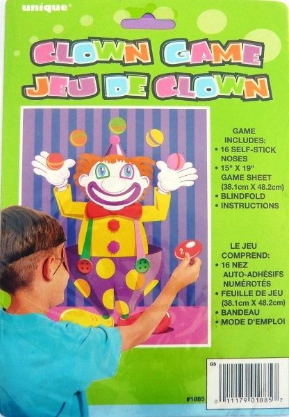 Stick The Nose On The Clown Circus Party Game Inc Blindfold Up To 16 Players